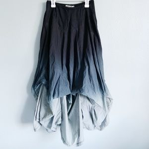 Grey ombré layered skirt